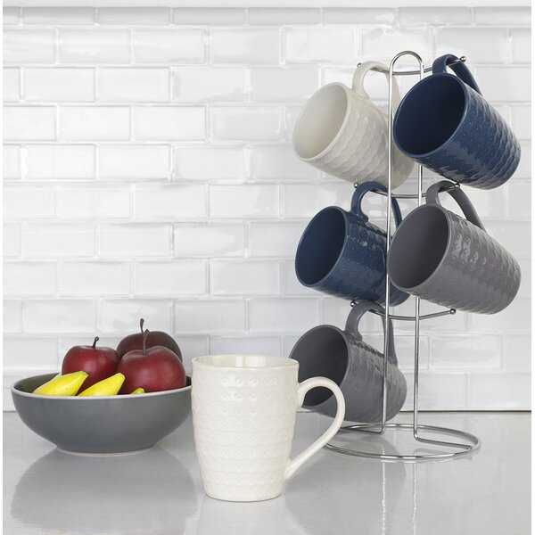 Stoneware Mugs Set (Set of 6) by Home Basics