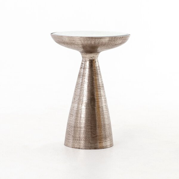 Bevis Pedestal End Table by 17 Stories