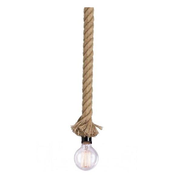 West Oak Lane 1-Light Bulb Pendant by Breakwater Bay