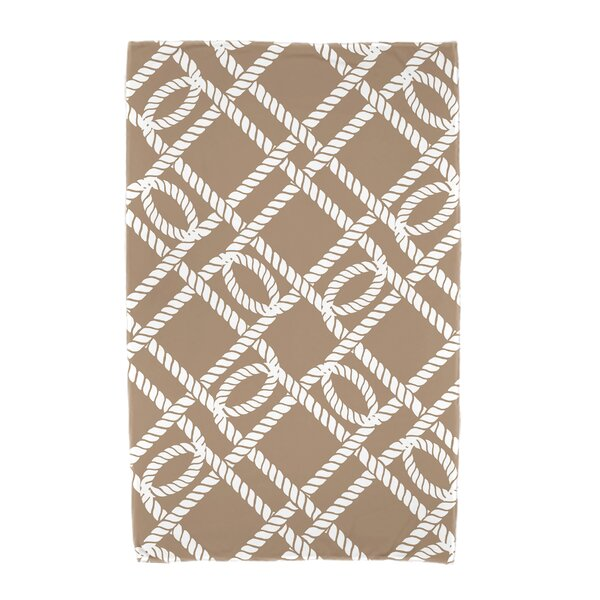 Bridgeport Know the Ropes Geometric Print Beach Towel by Beachcrest Home