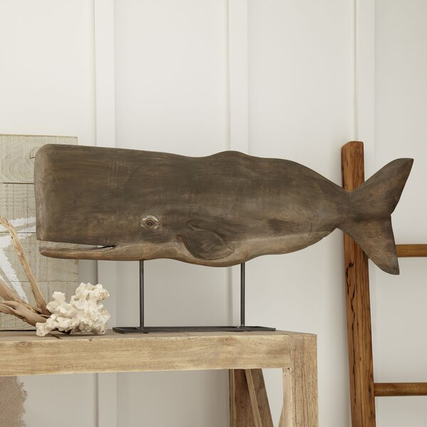 Wood Whale Decor by Birch Lane™