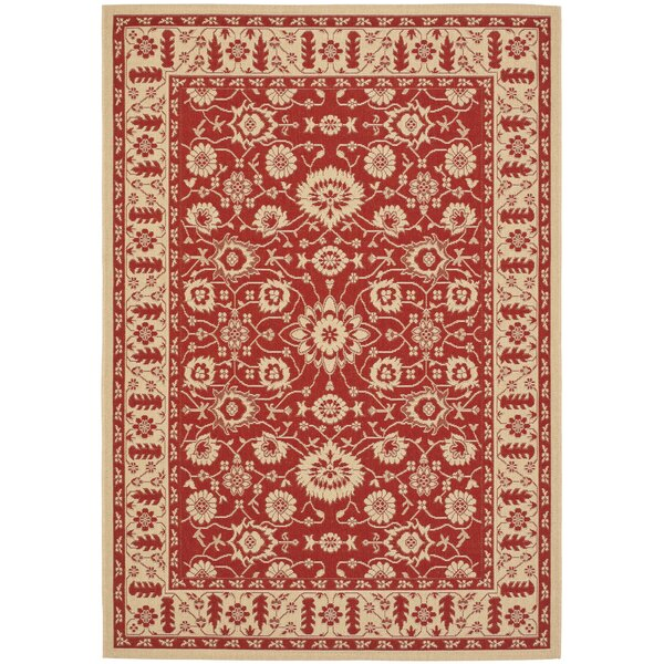 Herefordshire Red/Creme Indoor/Outdoor Sisal Area Rug by Winston Porter