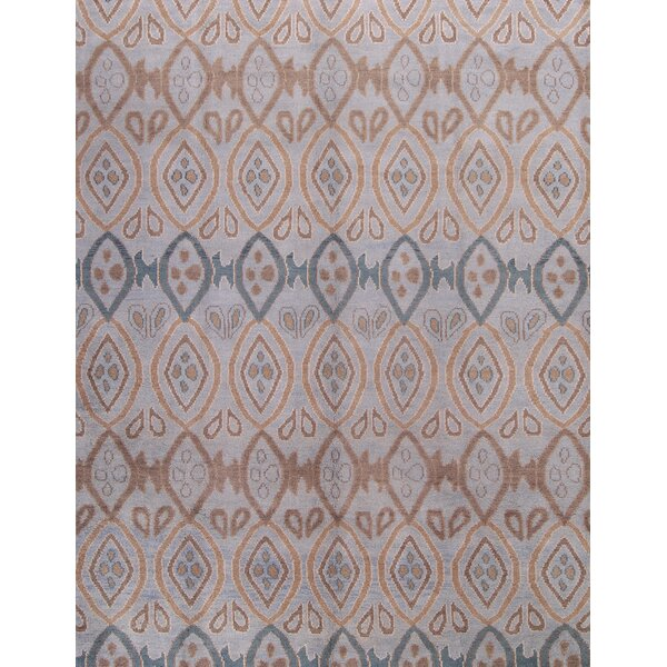 One-of-a-Kind Phoebe Traditional Moroccan Oushak Oriental Hand-Knotted Wool Gray/Brown Area Rug by Bloomsbury Market