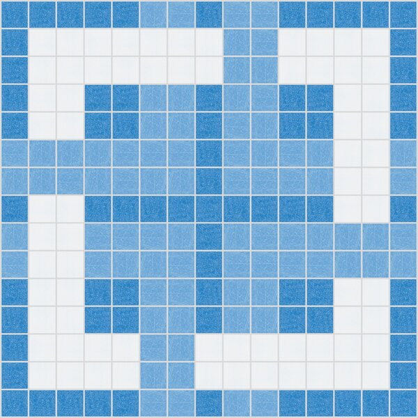 Urban Essentials Woven Lattice 3/4 x 3/4 Glass Glossy Mosaic in Lakefront Blue by Mosaic Loft