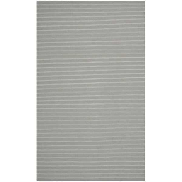 Dhurries Hand-Woven Wool Gray Area Rug by Safavieh