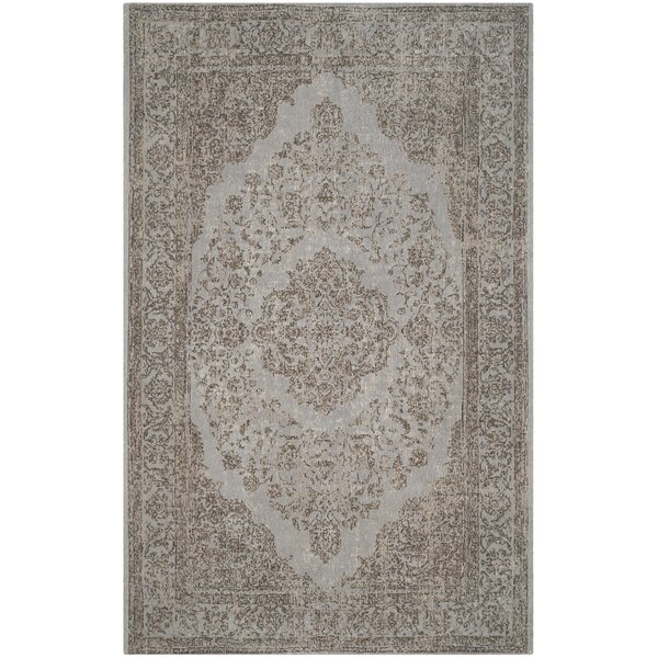 Mattapoisett Cotton Gray Area Rug by Bungalow Rose