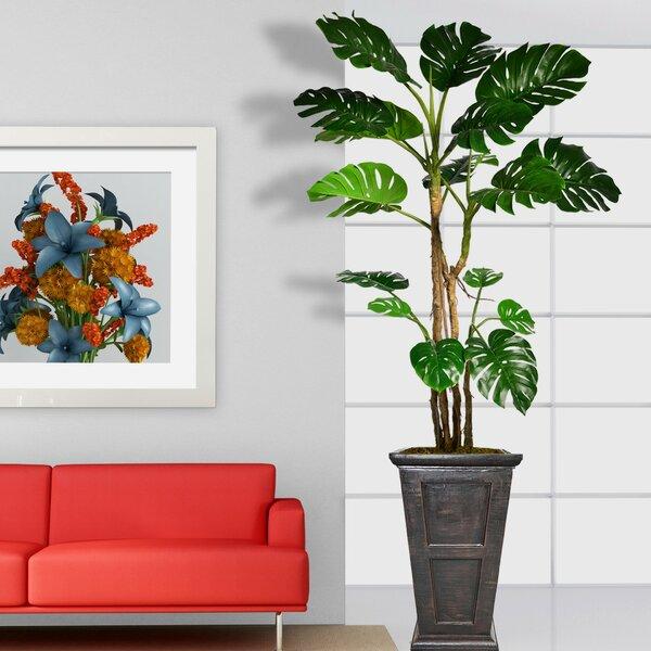 Monstera Artificial Floor Foliage Tree in Planter by Red Barrel Studio