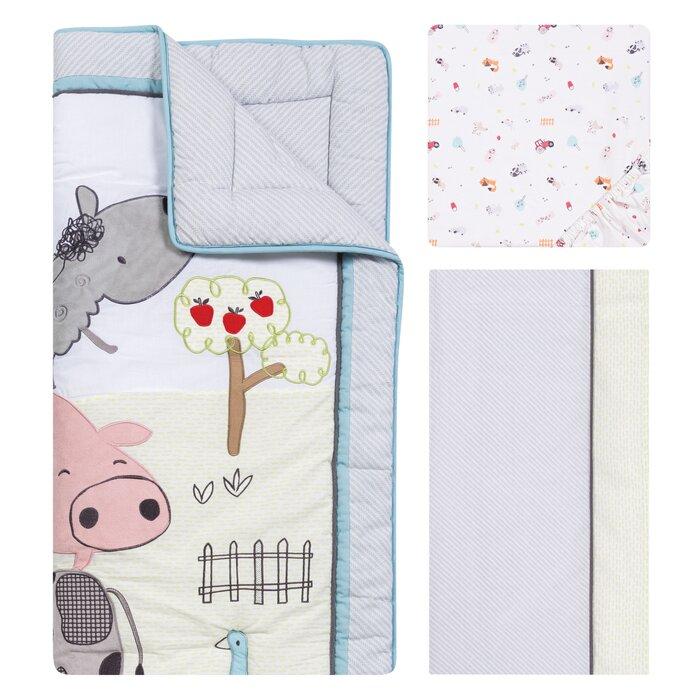 Trend Lab Farm Stack Nursery Crib Bedding CHOOSE FROM 4 /& 5 Piece Set NEW