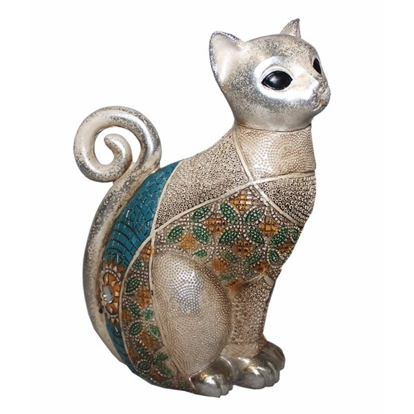 Ternes Dazzling Polyresin Cat Figurine by World Menagerie