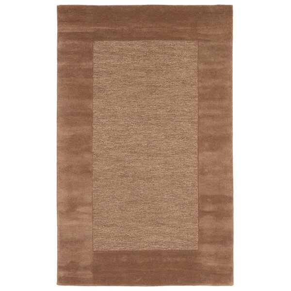 Dewsbury Brown Border Area Rug by Charlton Home