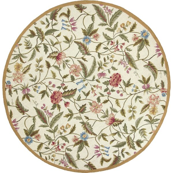 Labrosse Ivory Floral Area Rug by August Grove