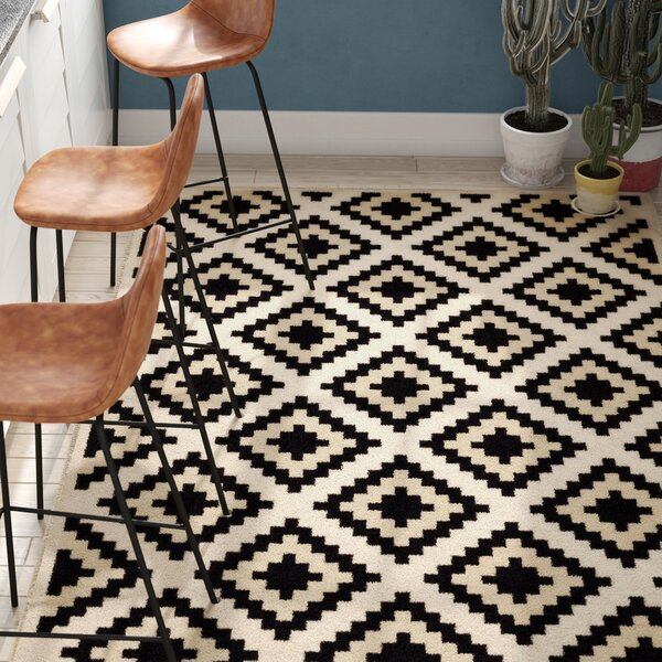 Amoll Ivory/Black Area Rug by Trent Austin Design