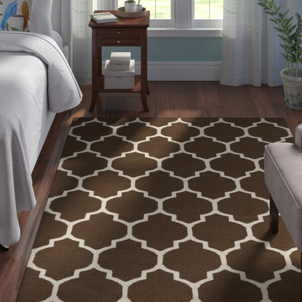 Bohannon Brown Geometric Area Rug by Andover Mills