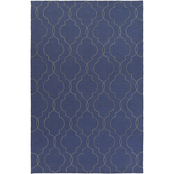 Amenia Hand-Woven Dark Blue Area Rug by Darby Home Co