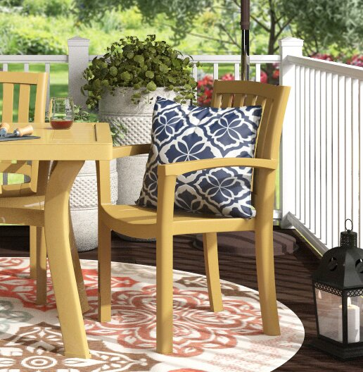 Snake River Stacking Patio Dining Chair (Set of 4) by Red Barrel Studio