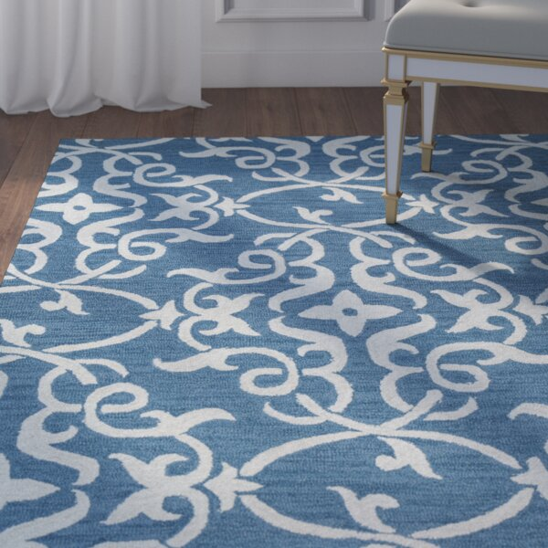 Hexham Hand-Tufted Blue Area Rug by Willa Arlo Interiors