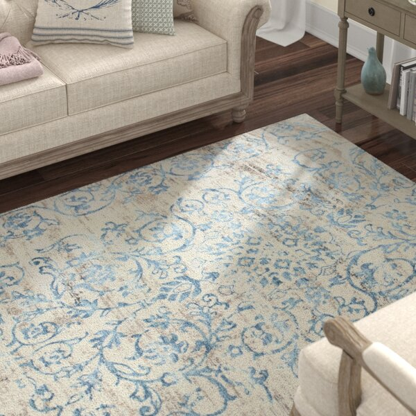 Camellia Ivory/Blue Area Rug by Lark Manor