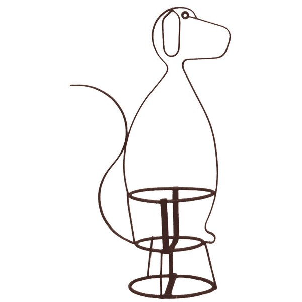 Dog Plant Stand by Deer Park Ironworks