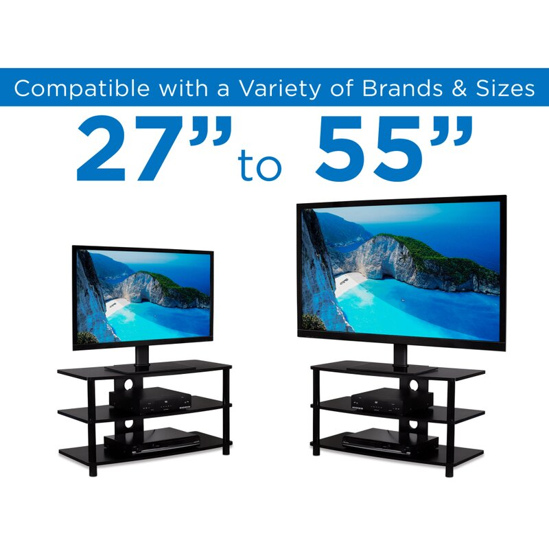 Universal Table Top TV Stand Legs for LG 42PX8DC-UA Height Adjustable