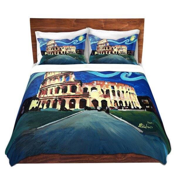 Starry Night Rome Colosseum Duvet Cover Set