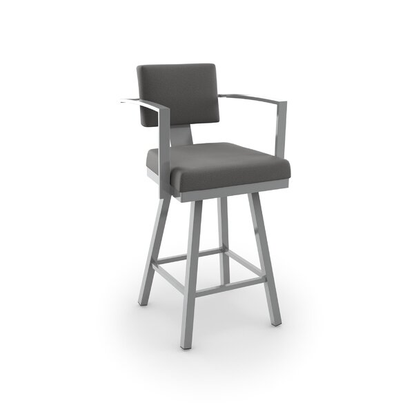 Perrotta 26.75 Swivel Bar Stool by Brayden Studio