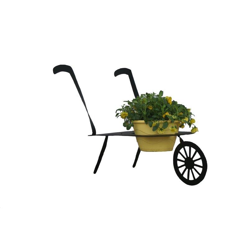3D Metal Lawn Art Wheelbarrow Planter
