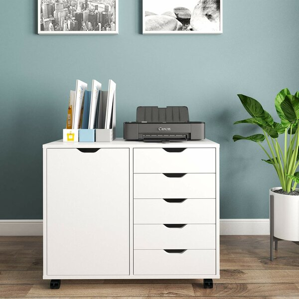Totally 5-Drawer Mobile Lateral Filing Cabinet