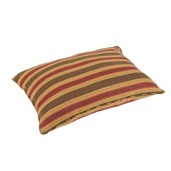 Pottsgrove Stripes Piped Indoor/Outdoor Sunbrella Floor Pillow by Darby Home Co