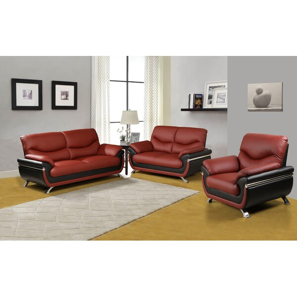 Donahue 3 Piece Living Room Set by Orren Ellis
