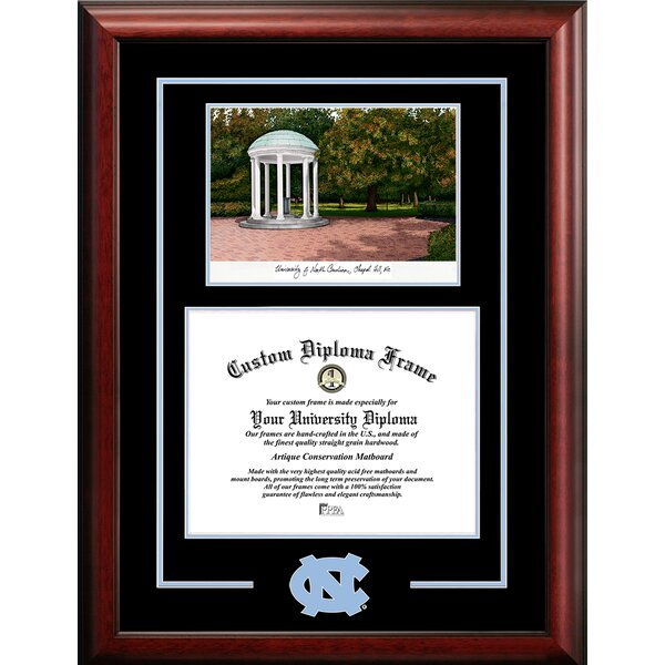 NCAA North Carolina Tar Heels Spirit Graduate Picture Frame by Campus Images