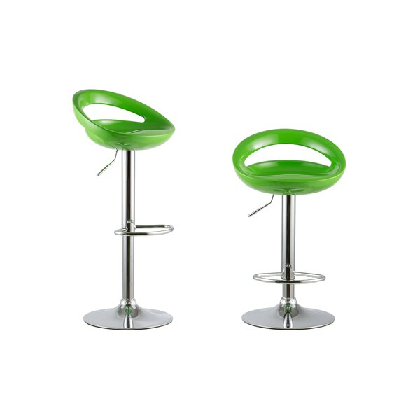 Adjustable Height Swivel Bar Stool Set by Attraction Design Home