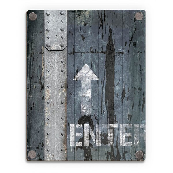 Metal Enter Sign Graphic Art on Plaque by Click Wall Art