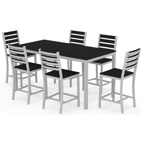 Loft 7 Piece Bar Height Dining Set by Elan Furniture