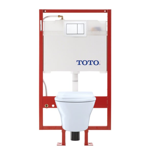 MH Dual Flush D-Shape Wall Hung Toilet with Tornado Flush by Toto
