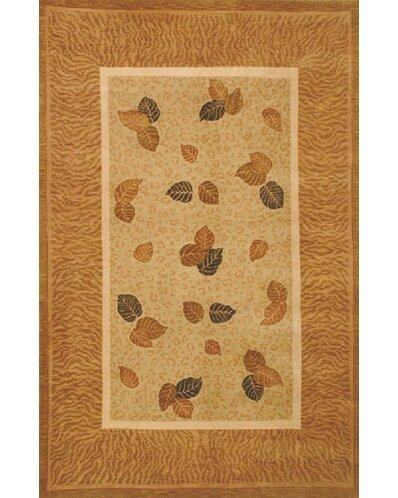 Neo Nepal Pale Golden Leaves Pale Sage Area Rug by American Home Rug Co.