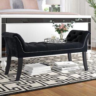 Melendy Velvet Upholstered Bench by House of Hampton