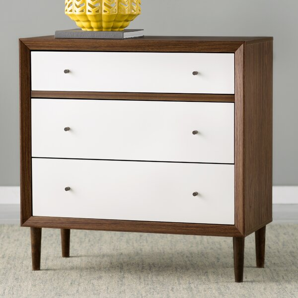 Adelia 3 Drawer Chest by Modern Rustic Interiors
