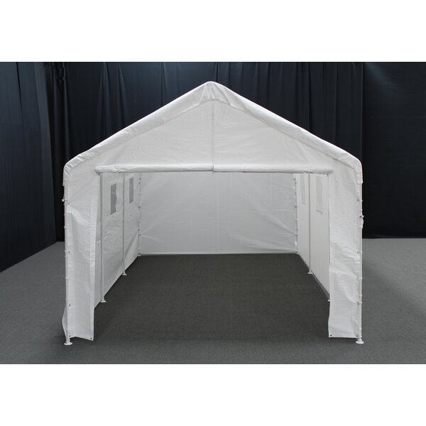 Universal 10 Ft. W x 20 Ft. D Garage by King Canopy