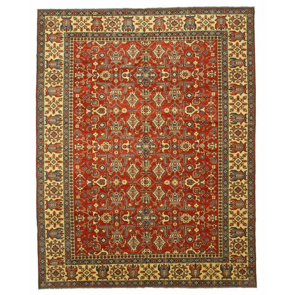 Kazak Hand-Knotted Red/Brown Area Rug by Eastern Rugs