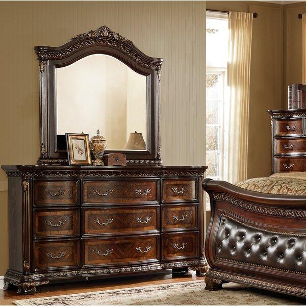Medellin 9 Drawer Dresser with Mirror by Astoria Grand