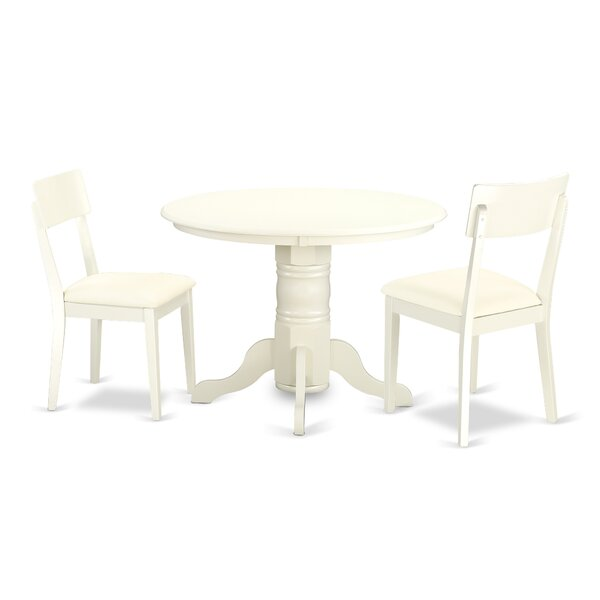 Sherlock 3 Piece Breakfast Nook Solid Wood Dining Set by August Grove