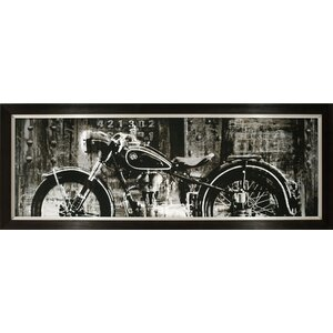 Open Highway Motorcycle Framed Photographic Print by Byron Anthony Home