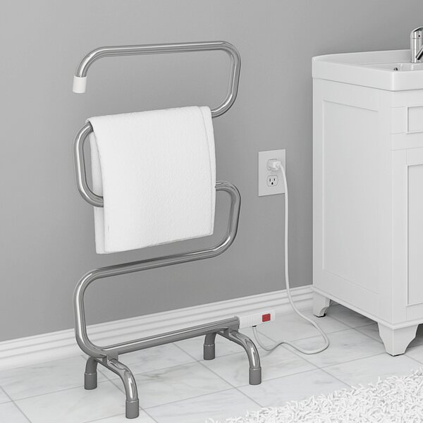 Comfort 5 Floor Curved Freestanding Electric Towel Warmer by Ancona