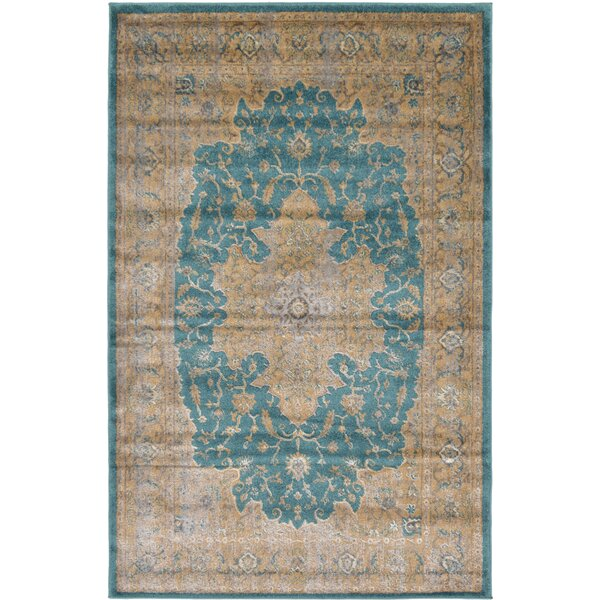 Essex Teal Area Rug by World Menagerie