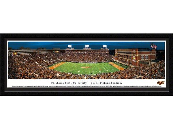 NCAA Oklahoma State University - 50 Yard Line by James Blakeway Framed Photographic Print by Blakeway Worldwide Panoramas, Inc