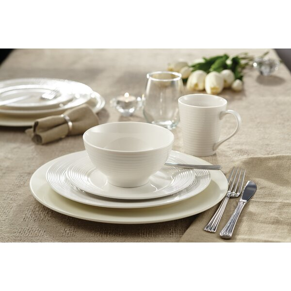 Lowenstein Embossed 16 Piece Porcelain China Dinnerware Set, Service for 4 by Winston Porter