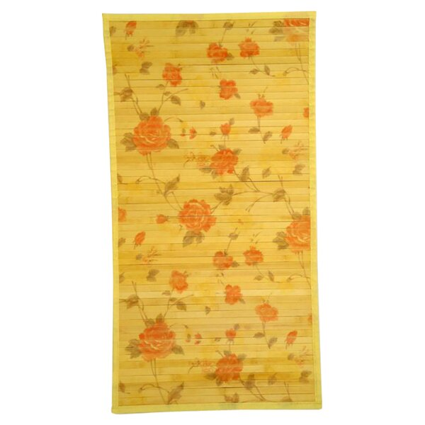 Intersection Cut Roses/Light Yellow Area Rug by Naturesort