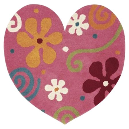 Fantasia Heart Light Pink Area Rug by Dynamic Rugs