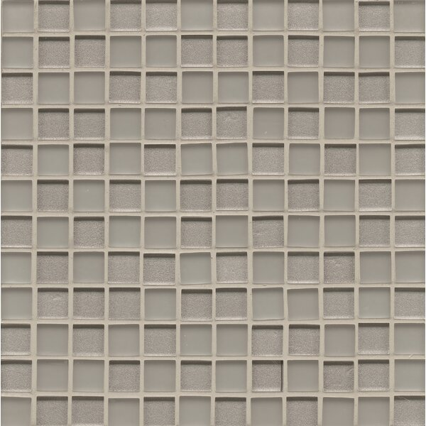 Remy Glass 0.94 x 0.94 Glass Mosaic Tile in Silver by Grayson Martin