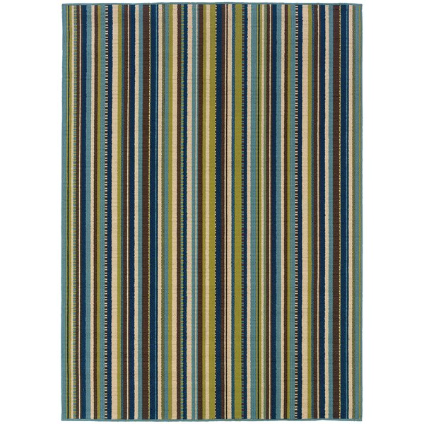 Brendel Blue/Brown Indoor/Outdoor Area Rug by Andover Mills Andover Mills